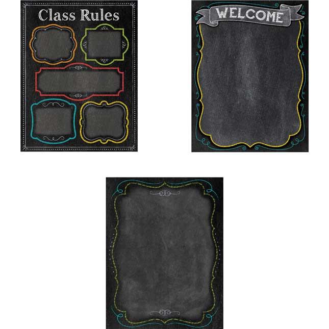 Chalk It Up! Classroom Essentials Chart Pack