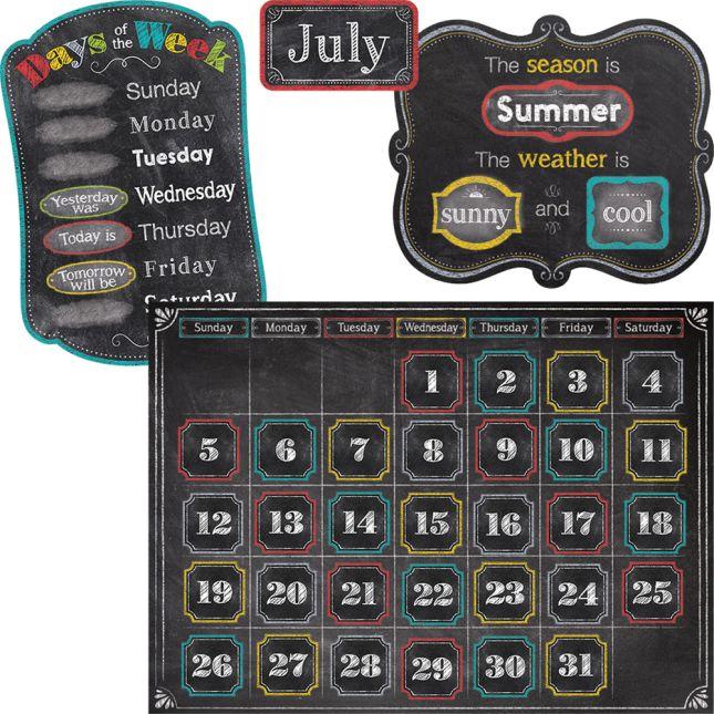 Chalk It Up! Calendar Bulletin Board Set