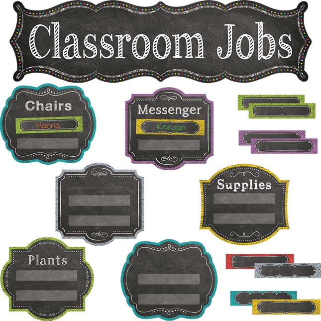 Chalk It Up! Classroom Jobs Mini-Bulletin Board Set