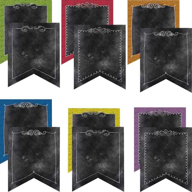 "Chalk It Up! Pennants 10"" Jumbo Designer Cutouts"