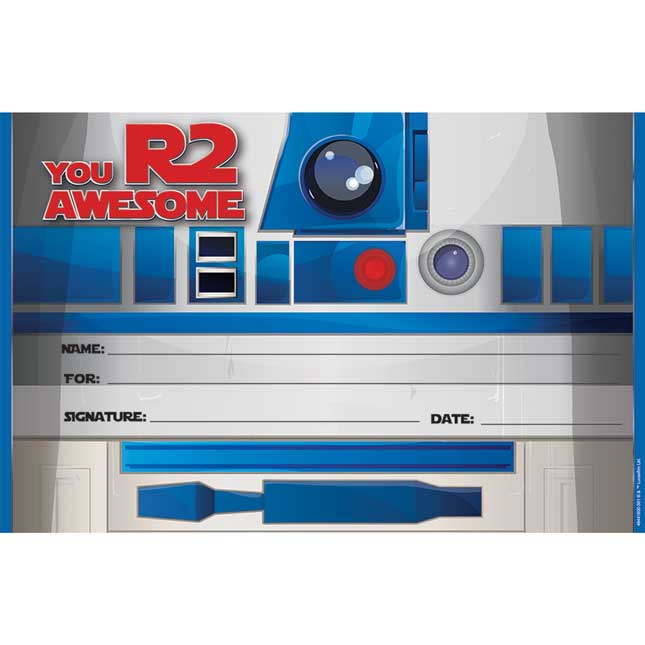 Star Wars™ R2-D2 Recognition Award - 36 certificates
