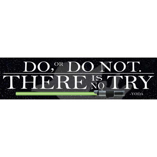 Star Wars™ Yoda Quote Horizontal Banner - 1 banner