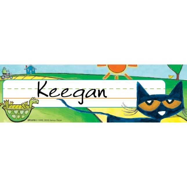 Pete The Cat® Nameplates - 36 nameplates