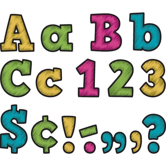 "Chalkboard Brights Bold Block 4"" Letters"