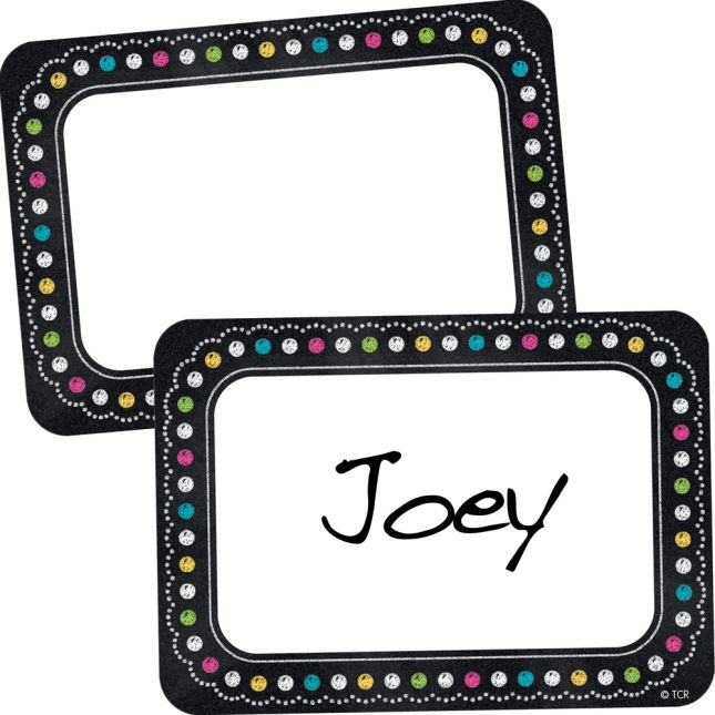 Chalkboard Brights Name Tags/Labels