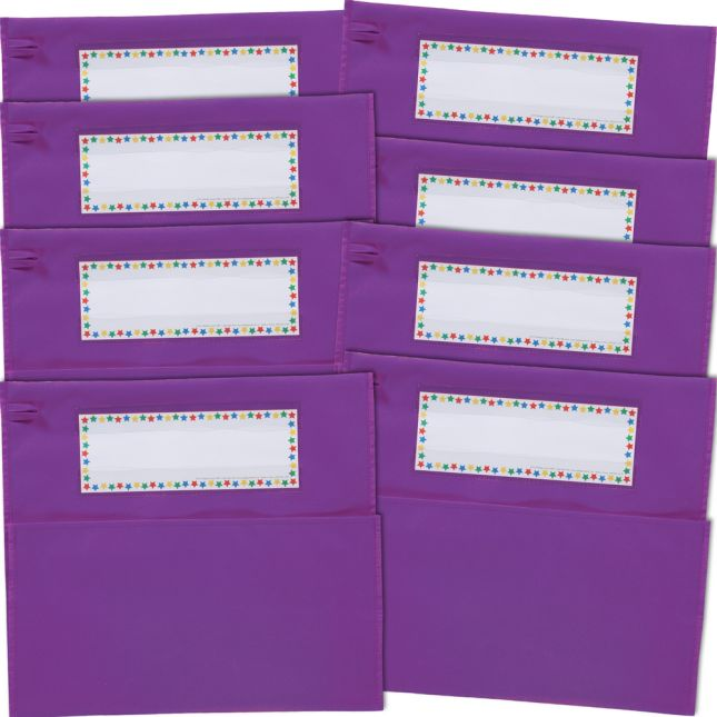 Classic Chair Pockets - 8 Pack - Purple