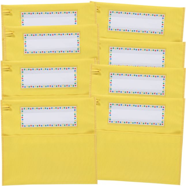 Classic Chair Pockets - 8 Pack - Yellow