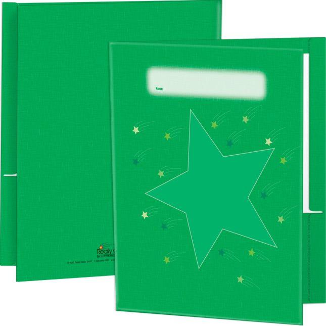 Star Folders, Green - 2 Pocket - 12 Pack