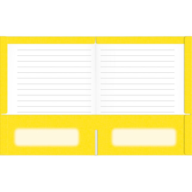 Star Folders, Yellow - 2 Pocket - 12 Pack