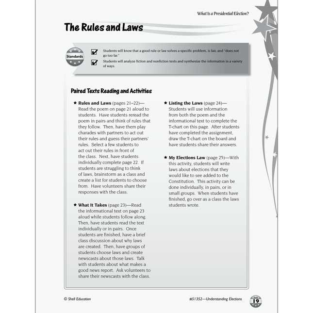 Understanding Elections Book - Grades K-2