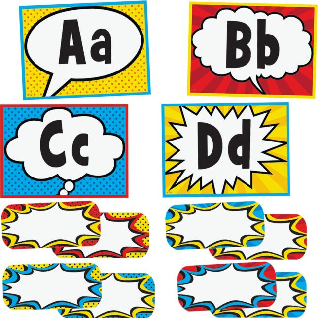 Superhero Alphabet Word Wall Bulletin Board Set