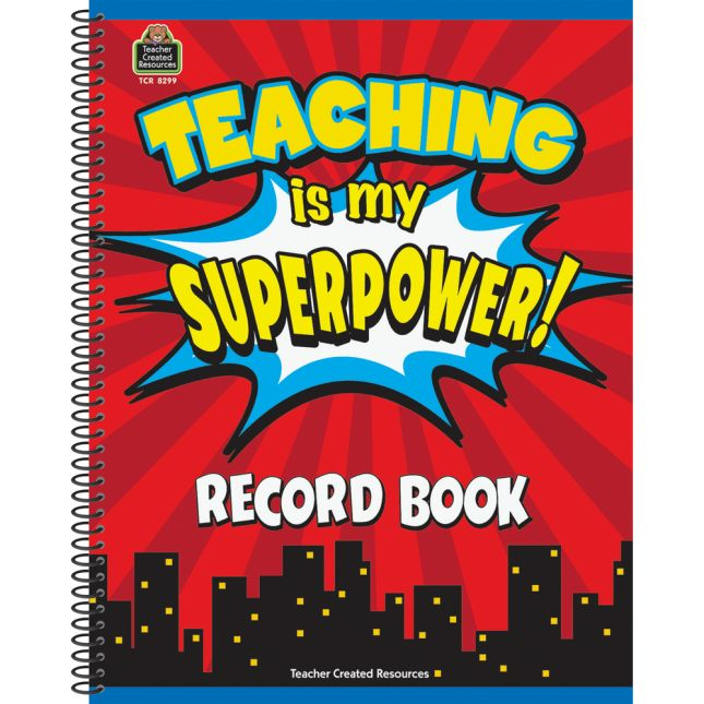 Superhero Record Book - 1 book