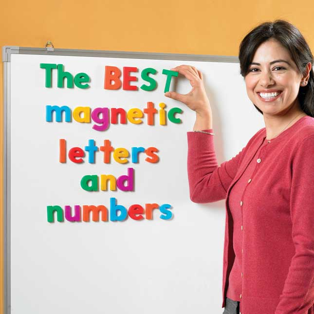 Alpha Magnets Jumbo Letters And Numbers - Set Of 100