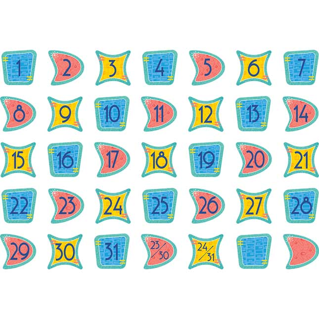 Mid-Century Modern Calendar Days