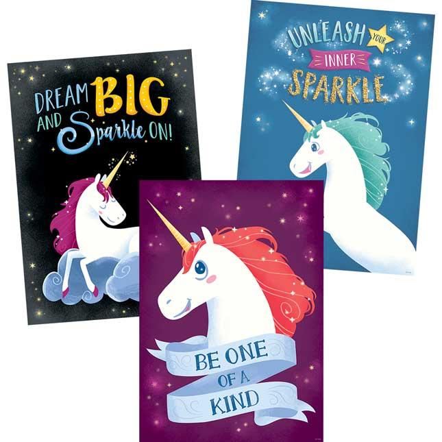 Unicorns Inspire U Poster 3-Pack