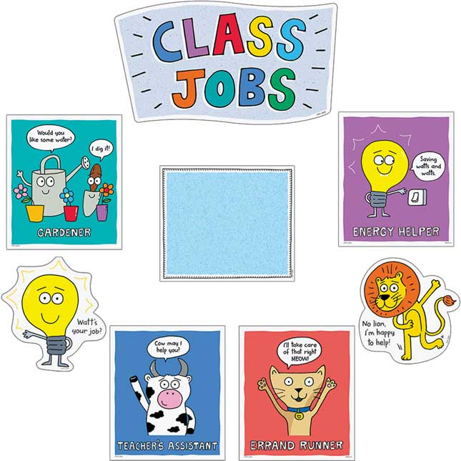 So Much Pun! Class Jobs Mini Bulletin Board
