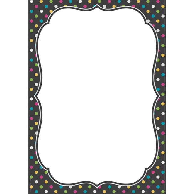Clingy Thingies® Chalkboard Brights 12 X 17 Dry Erase Note Sheet