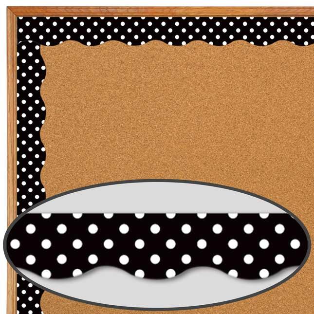 Clingy Thingies® Black Polka Dots Border Trim
