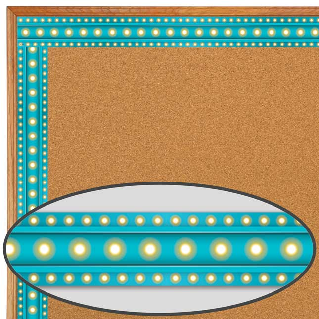 Clingy Thingies® Light Blue Marquee Border Trim
