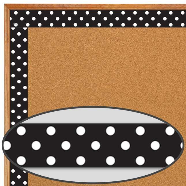 Clingy Thingies® Black Polka Dots Whiteboard Strips