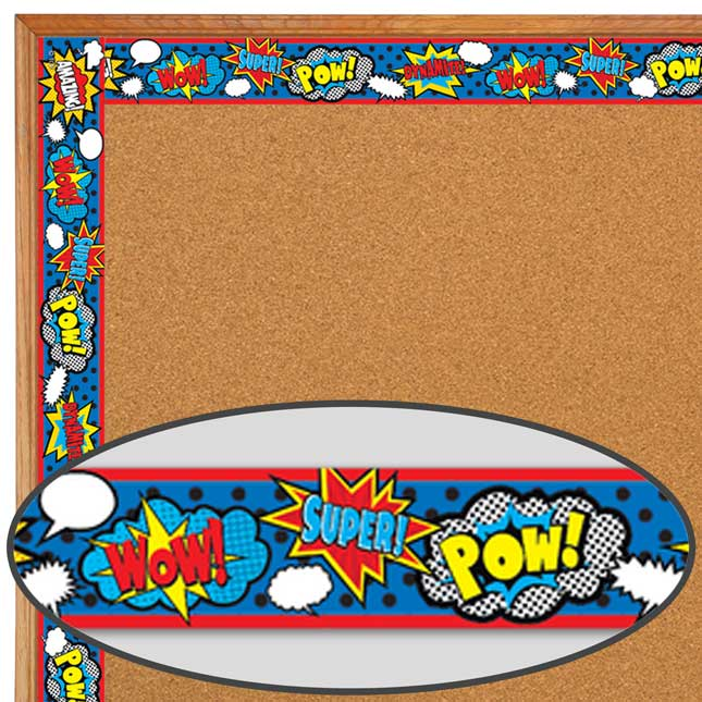 Clingy Thingies® Superhero Whiteboard Strips