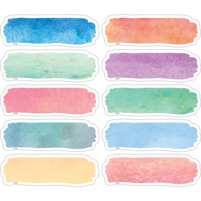 Watercolor Magnetic Labels