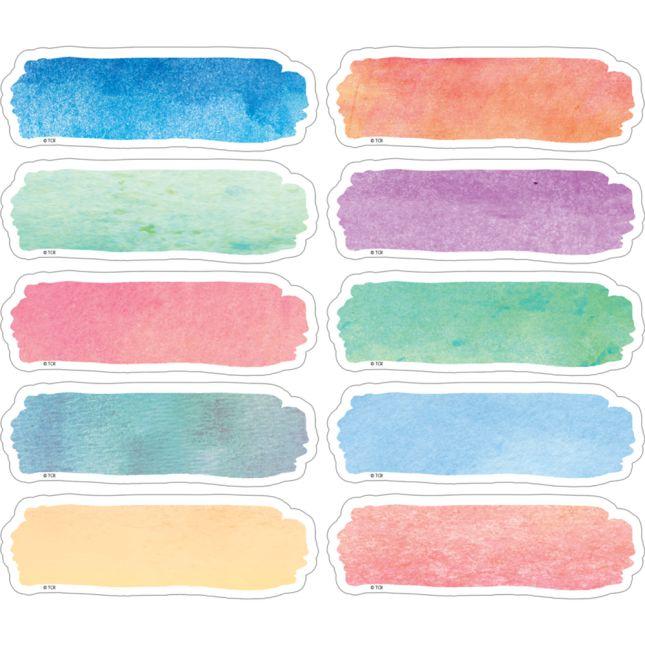 Watercolor Magnetic Labels - 20 labels