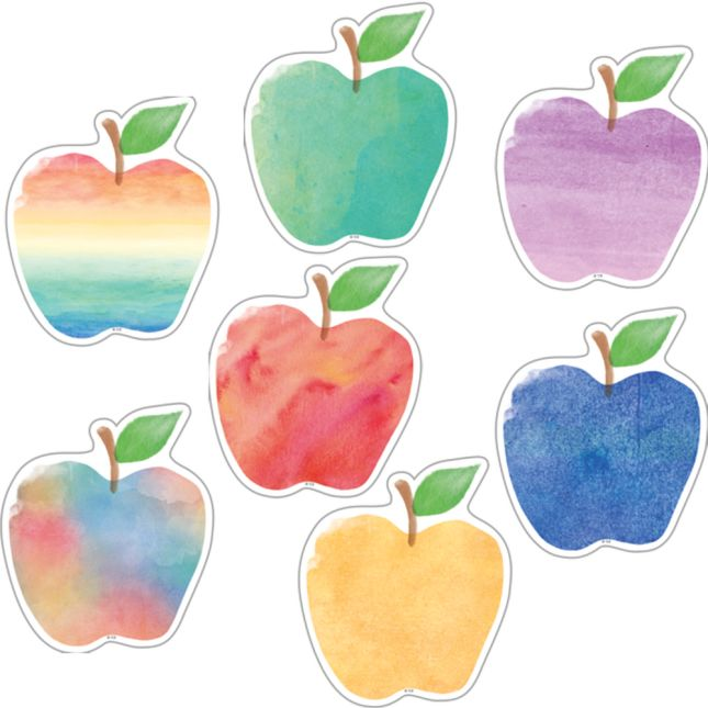 "Watercolor Apples 6"" Accents"