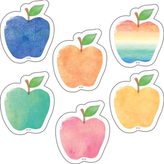 "Watercolor Apples Mini 2"" Accents"