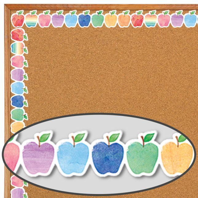 Watercolor Apples Diecut Border Trim - 1 border trim