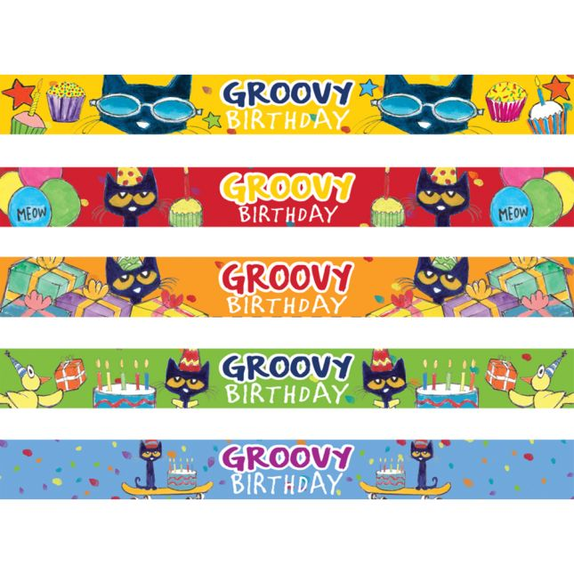 Pete The Cat® Groovy Birthday Slap Bracelets