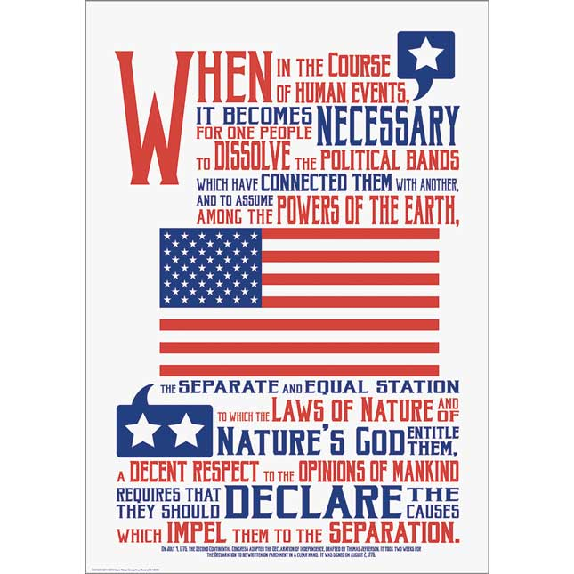 "Declaration Of Independence 13"" X 19"" Poster"