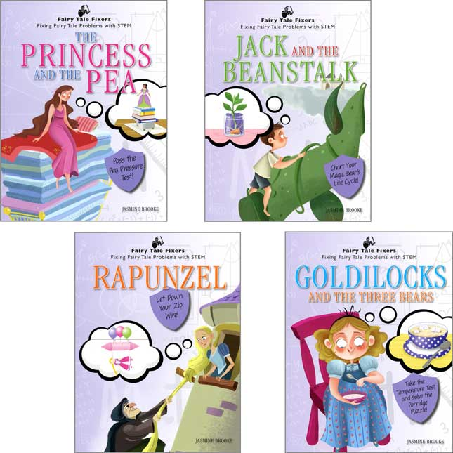 Fairy Tale Fixers: Fixing Fairy Tale Problems With STEM 4-Book Set