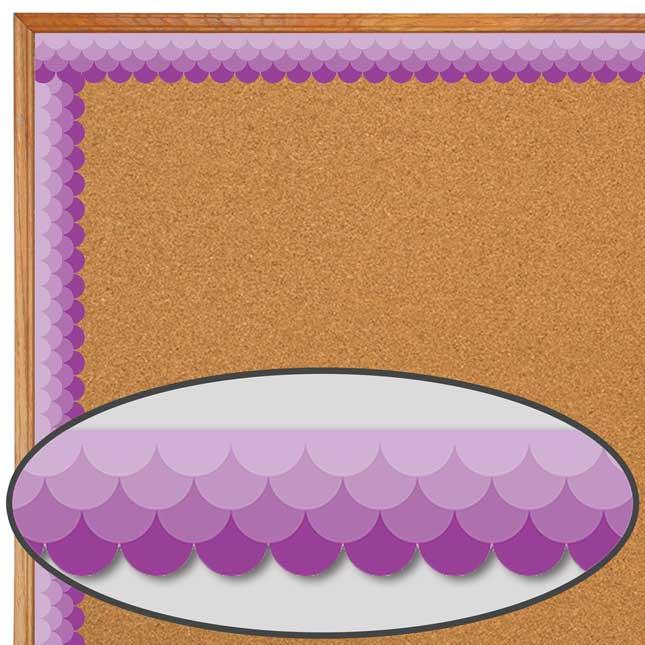 Purple Ombré Scallop Painted Palette Border Trim