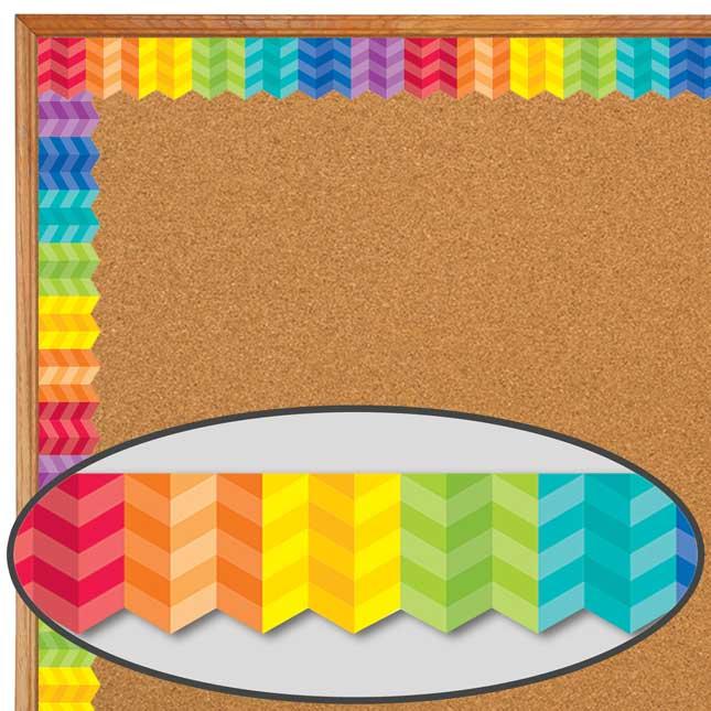 Painted Palette Rainbow Herringbone Border Trim - 1 border trim