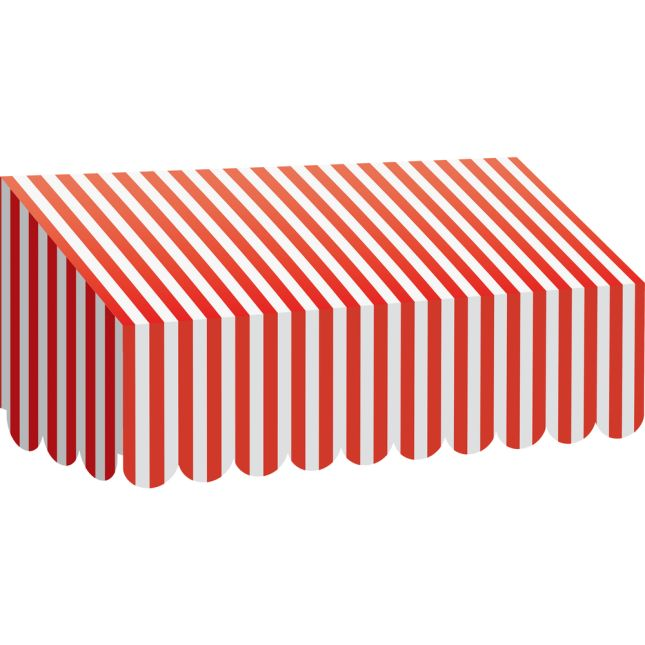 Red-And-White Stripes Awning - 1 awning