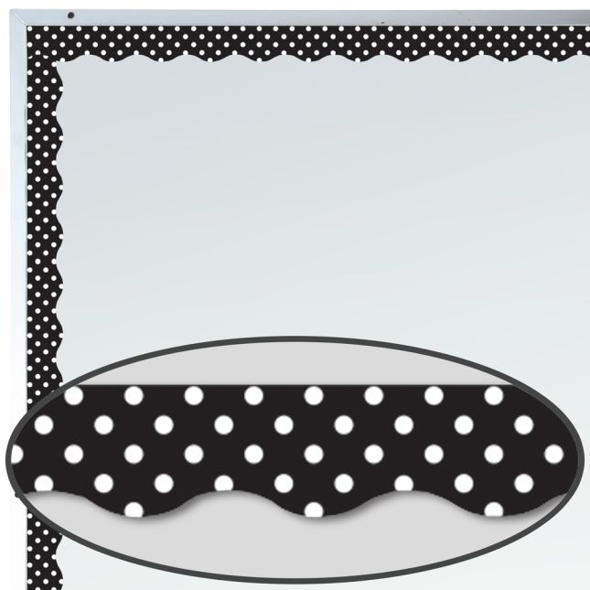 Black Polka Dots Magnetic Border Trim