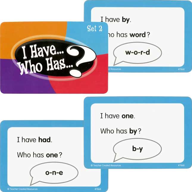 I Have...Who Has...? Sight Words - Grade K
