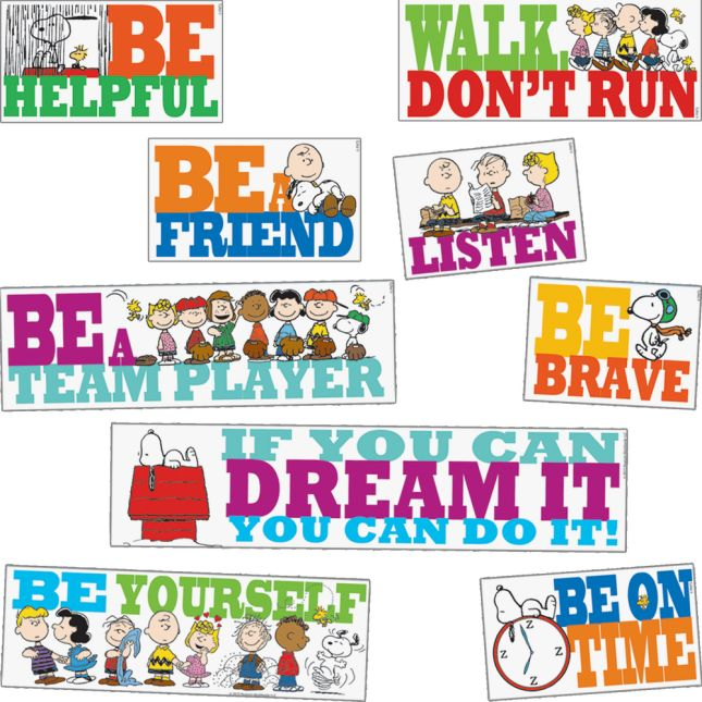 Peanuts® BE The Best You Can BE Bulletin Board Set_0