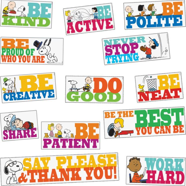Peanuts® BE The Best You Can BE Bulletin Board Set_1