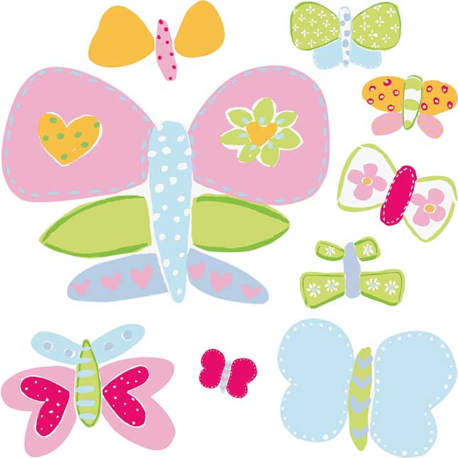 Garden Reading Environment - Wallies® Butterflies Wall Decor - 28 stickers
