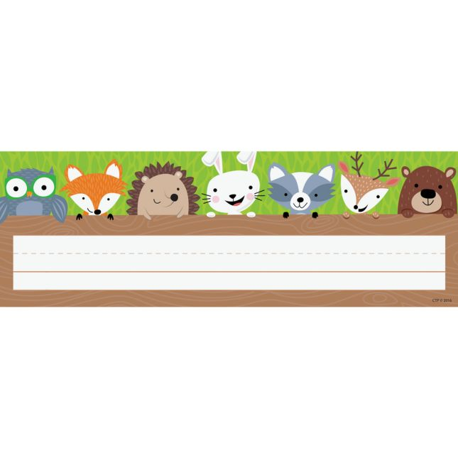 Woodland Friends Nameplates