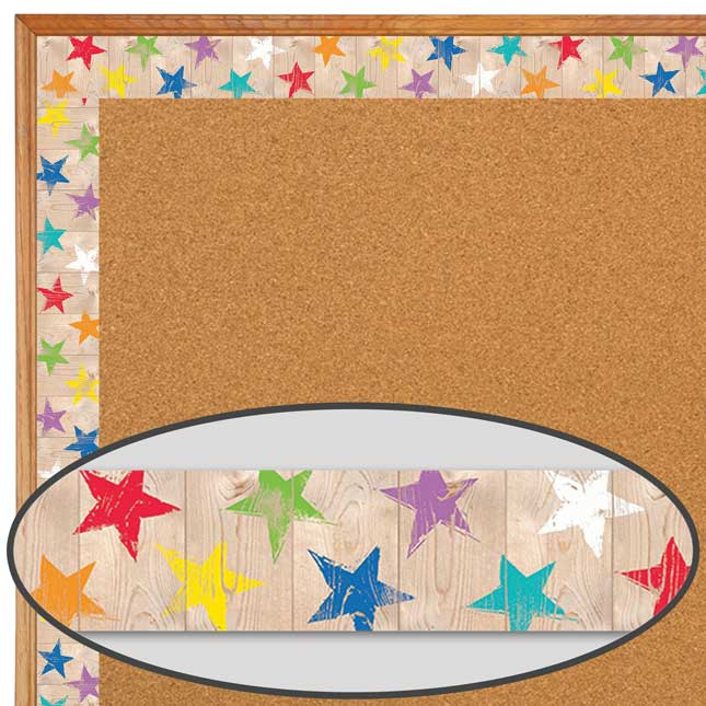 Upcycle Rustic Stars Border Trim