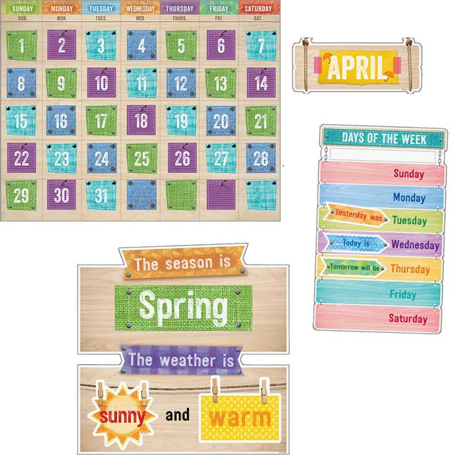 Upcycle Calendar Bulletin Board Set