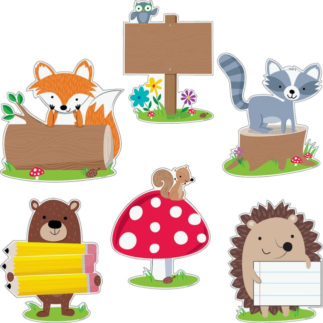 "Woodland Friends 10"" Designer Cutouts - 12 cutouts"