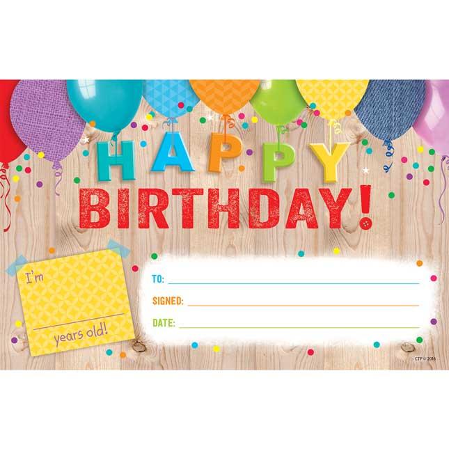 Upcycle Happy Birthday! Award