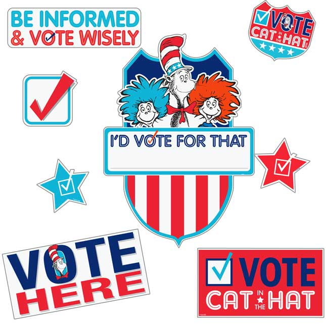 Cat In The Hat For President Bulletin Board Set