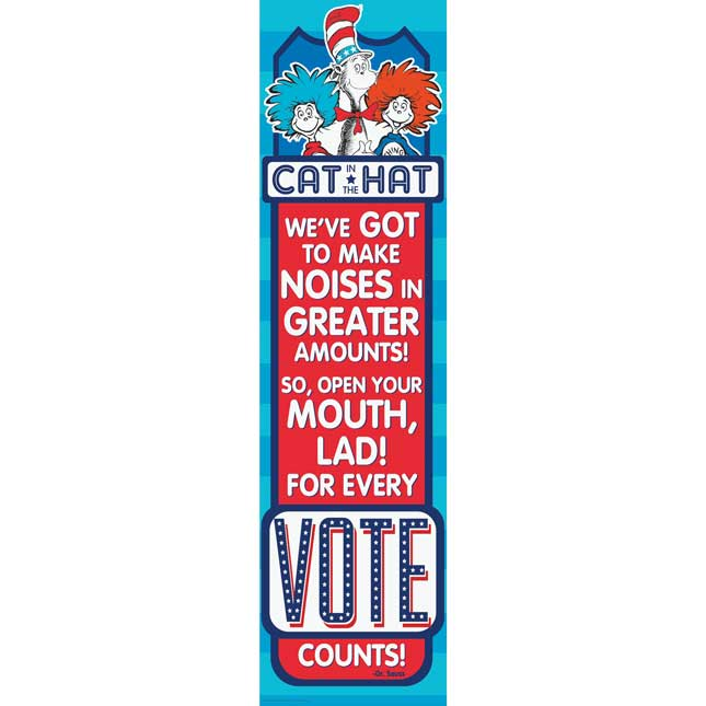 Cat In The Hat For President Banner