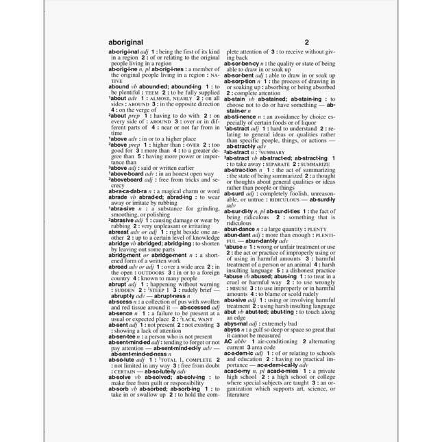 Webster's Dictionary And Thesaurus For Students With Full-Color World Atlas, Second Edition