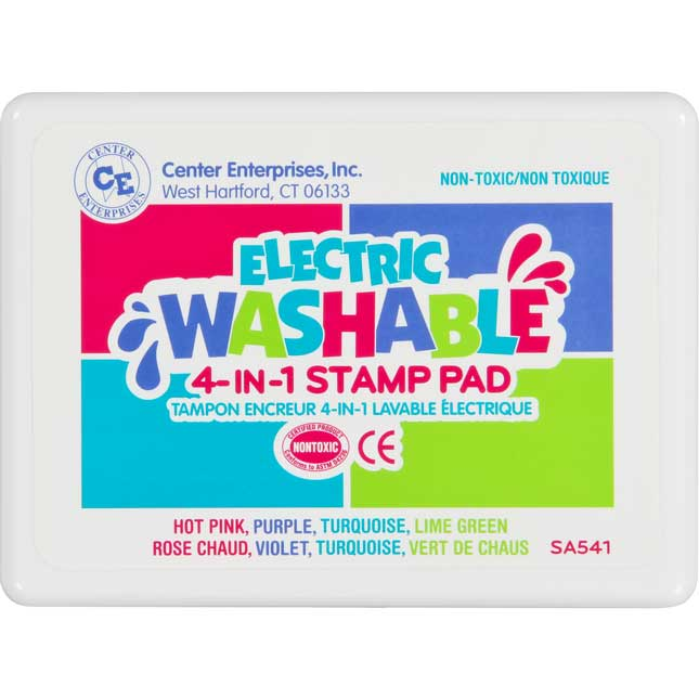 Electric Washable 4-Colors-In-1 Stamp Pad